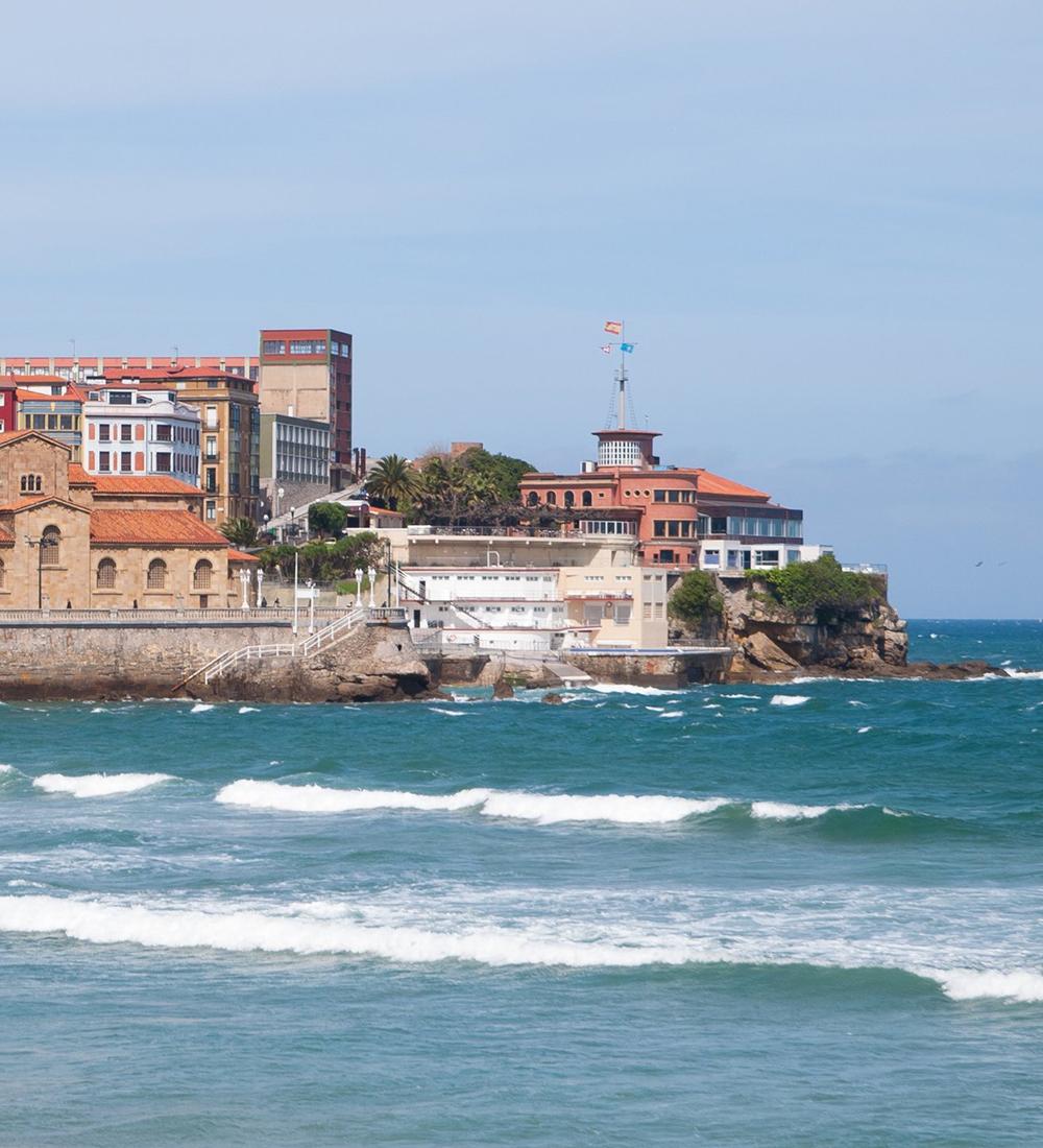 paisaje marítimo de Gijón
