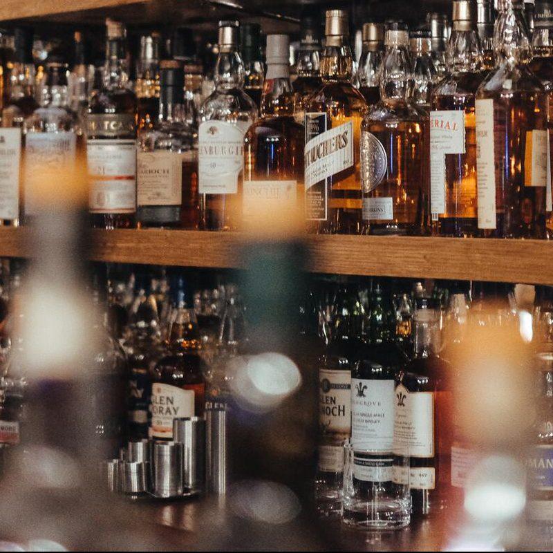 botellas alcohol